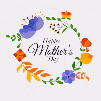 Festa della mamma concetto floreale