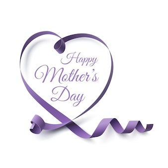 Mothers day greeting card template.