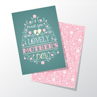 꽃과 어머니의 날 인사말 카드
