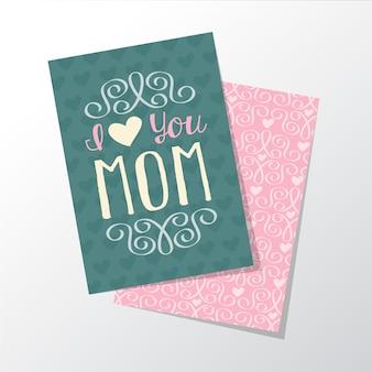 마음으로 어머니의 날 인사말 카드