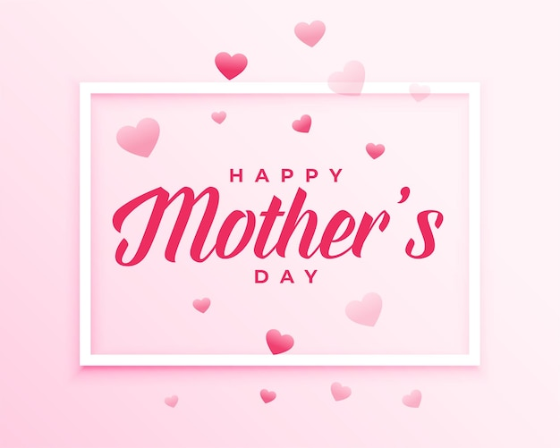 Mothers day hearts background design