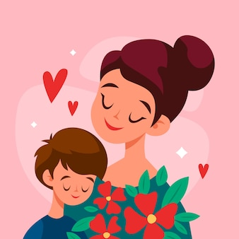 Mothers day illustration concept