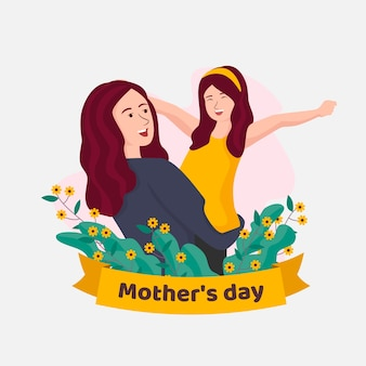 Mothers day illustration design