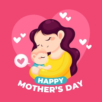 Mothers day illustration theme