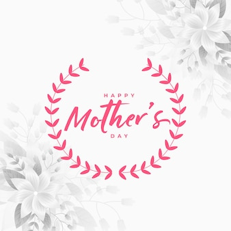 Mothers day illustration with flower decoration