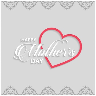 Mothers day lettering on grey background