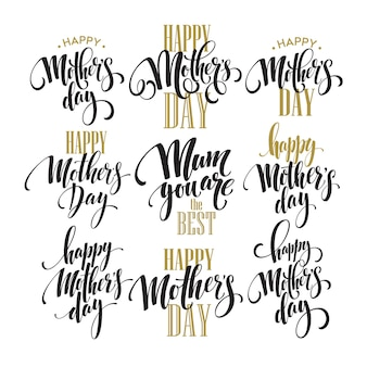 Mothers day lettering set