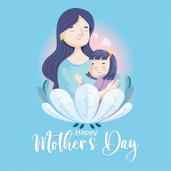 Mothers day-mother and daughter 01