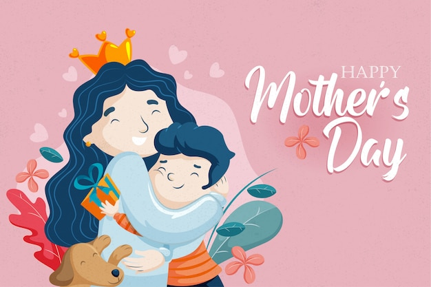 Mothers day-mother and son