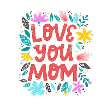 花の花輪で飾られた母の日の引用