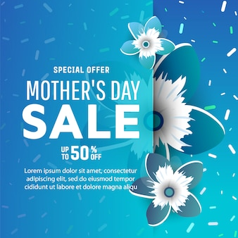 Mothers day sale banners.