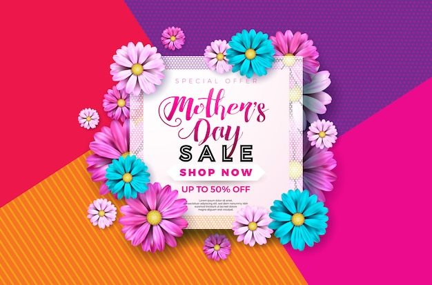 Mothers day sale greeting card design