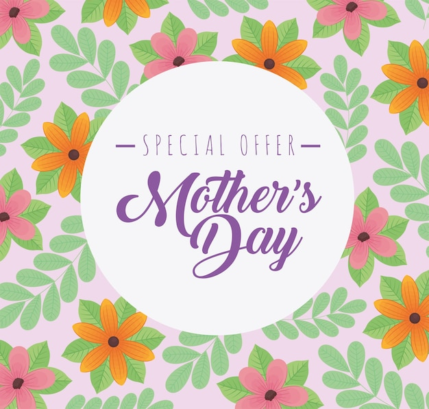 Mothers day special offer lettering