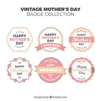 Mothers day vintage badges