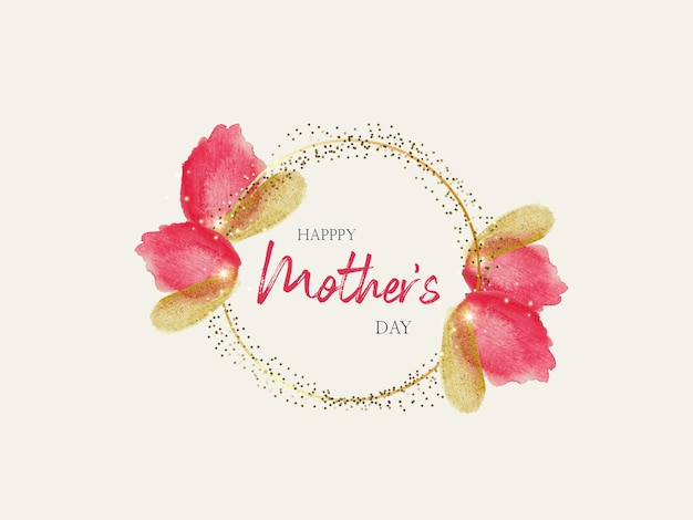 Mothers day watercolor banner design