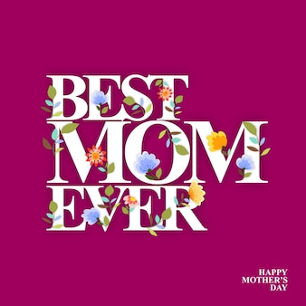 Mothers days greeting card