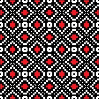 モザイクスタイルのモチーフバティックパターンの背景