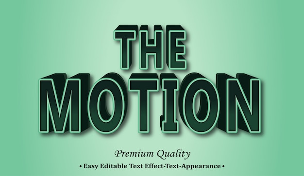 The motion 3d font style effect