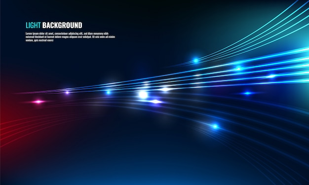 Motion glow abstract background