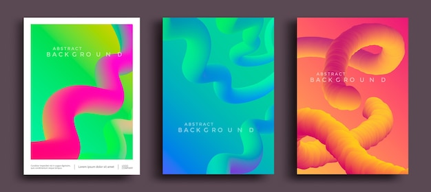 Motion liquid shapes for trendy gradient covers