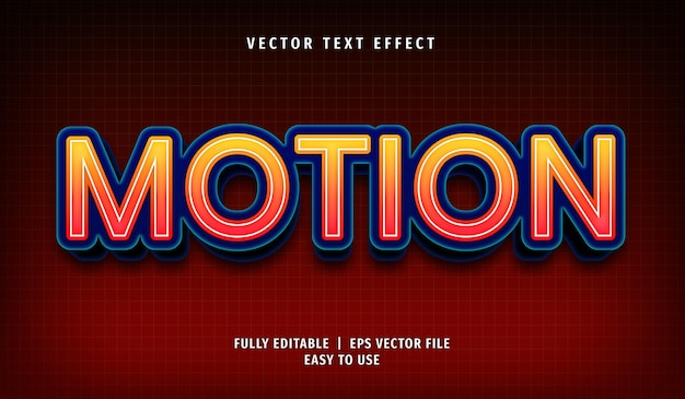 Motion text effect, editable text style