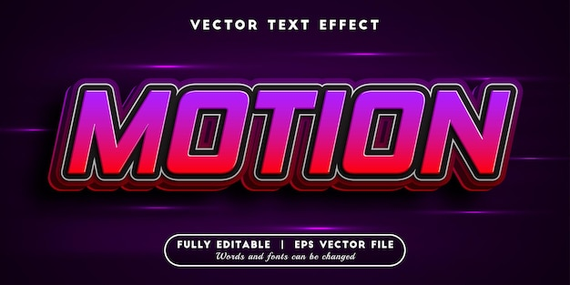 Motion text effect with editable text style