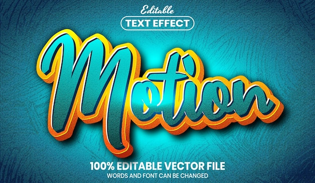 Motion text, font style editable text effect