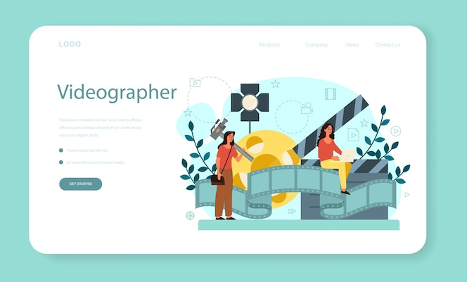 Premium Vector Motion Or Video Er Web Banner Or Landing Page Artist Create Computer Animation For Multimedia Project Animation Editor Cartoon Production