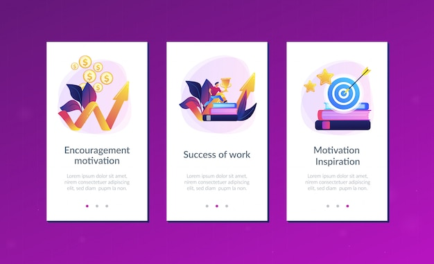 Motivation app interface template