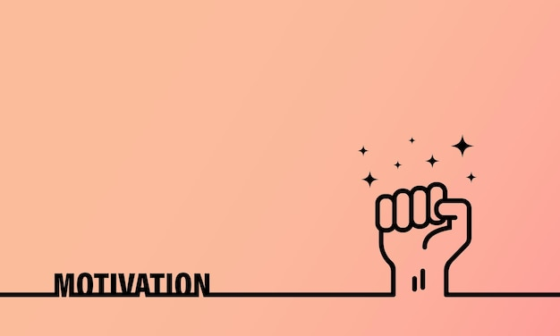 Motivation banner. symbol of business, success and support. vector on isolated background. eps 10.