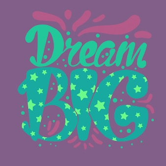 Motivation and dream lettering
