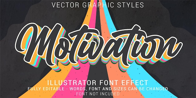 Motivation graphic styles editable text effect