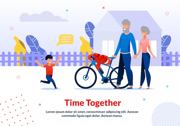 Motivation poster spending time with relatives template