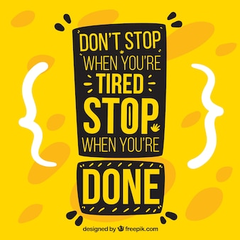 Motivation quote in yellow color
