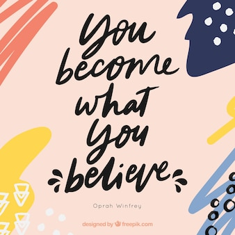 Motivation quote with abstract design