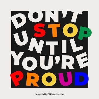 Motivation quote with colorful style