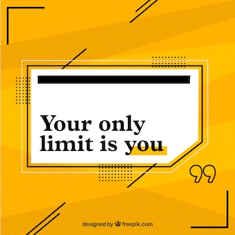 Motivation quote with yellow background