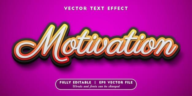 Motivation text effect, editable text style
