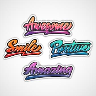 Motivation word hand lettering