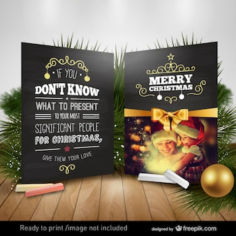 Motivational christmas card Free Vector