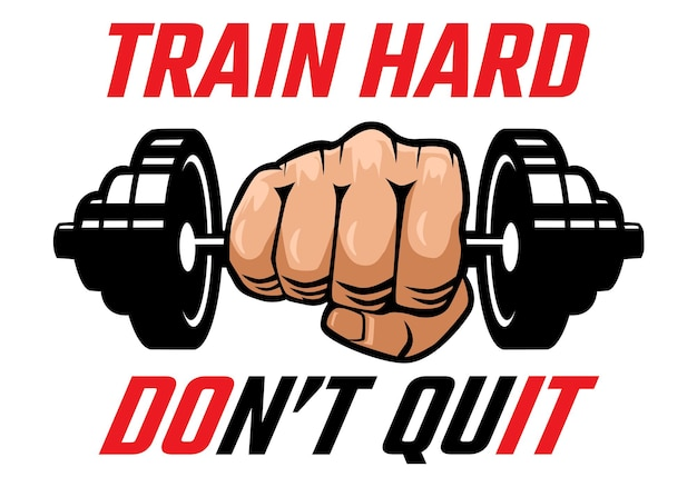 Motivational fitness and gym illustration