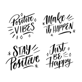 Motivational lettering collection