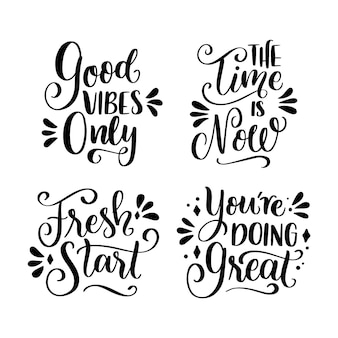 Motivational lettering pack