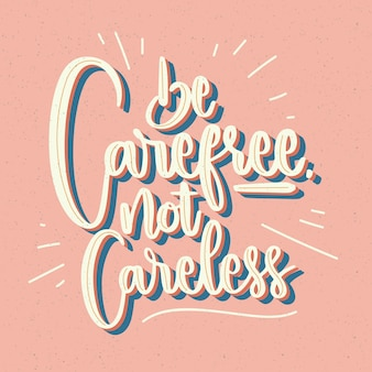 Motivational lettering in vintage style