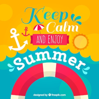 Motivational lettering with summer elements