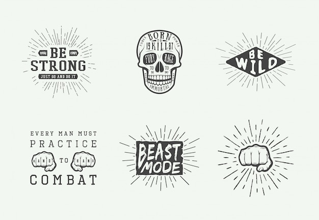 Motivational logo set
