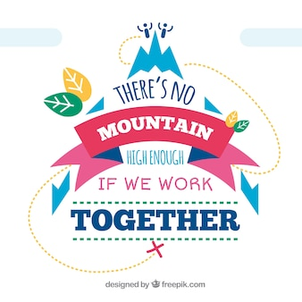 Motivational phrase with colored elements