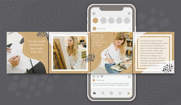 Motivational post instagram carousel templates