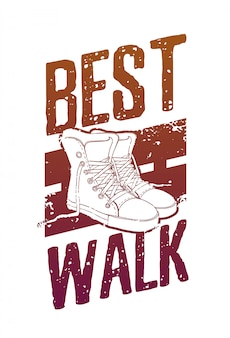 Motivational poster, placard, picture of a street style with grunge texture, sneakers and gradient color.