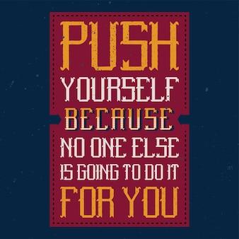 Poster motivazionale